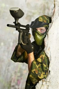 Paintball Player 0.68 Caliber Gun