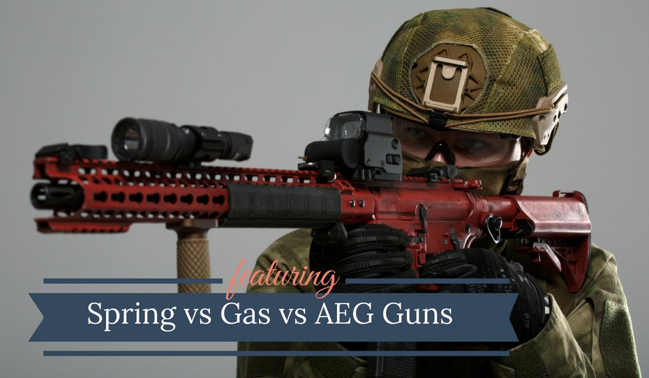 Spring vs Gas vs AEG Airsoft Guns